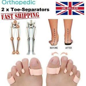 2 x Orthopedic Bunion Corrector Toe Separators Elastic Straighteners UK Stock