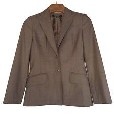 Anne Klein Suit Women's Blazer Mozart Pecan Stretch Wool Jacket Coat - 6 Petite