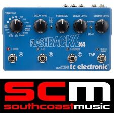 TC Electronic Flashback X4 Delay Looper True Bypass Guitar FX Loop Looping Pedal