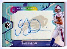 Gabriel Davis 2020 Panini Elements RC Neon Signs Auto #'d 74/75 Buffalo Bills