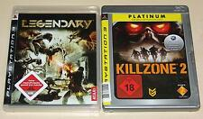 2 PLAYSTATION 3 SPIELE SET - LEGENDARY & KILLZONE 2 - FSK 18 - PS3