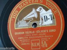 "78rpm 12"" AMELITA GALLI-CURCI solveigs song / lo here the gentle lark DB.1278"