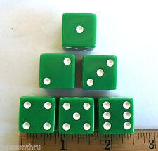 KOPLOW 19mm OP GREEN w/WHITE PIPS! 6 EACH - LARGER SIZE!!! GROOVY GREEN!