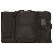 NEW - Tactical Military Triple Panel MOLLE Pouch for Mags & Lights - SWAT BLACK