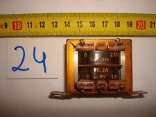 TRANSFORMER 50/60 Hz 230 V / 0,3A 9V 12V. R24-A35.