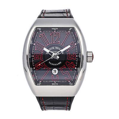 Franck Muller Vanguard Auto Steel Mens Strap Watch Date V45 SC DT AC RG