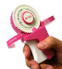 Embossing Label Maker 4 Wheel (English Number Emoticon Hangul) Pink + 1 Tape CA