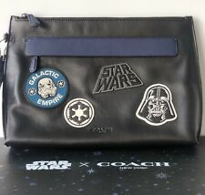 Brand New - COACH X STAR WARS Carryall Leather Pouch Dearth Vader $328 Laptop
