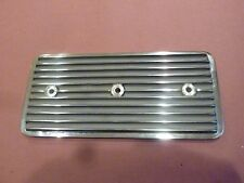 Finned aluminum Side Covers Chevy 292 inline 6 straight polished