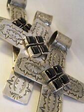 """3 1/4"""" Sterling Black Onyx Cross Pendant. Dan Dodson -  33 grams - 1/2 """" bezel"""