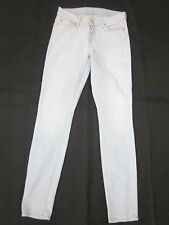 7 FOR ALL MANKIND The Skinny in Clear Indigo Jeans Lt Blue Mid Rise Sz 26