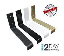 2 Pack - Lip Shelf Brackets, Farmhouse Metal Shelf Bracket, Industrial Modern