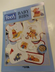 Leisure Arts Winnie the POOH BABY BIBS Cross Stitch Chart Patterns