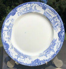 Antique Old Dutch blue white 9� China plate England Fb & Co Stamped & Marked