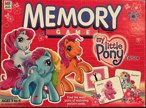 My Little Pony Memory Game Milton Bradley 68 Cards 2003 Edition