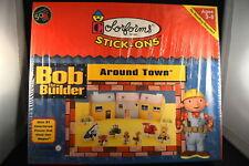 """Rare BOB THE BUILDER COLORFORMS """"AROUND TOWN""""  New!!! STICK-ONS  NOS  NIB  t oy"""