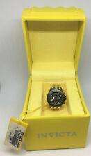 Invicta 13827 Gold-tone Black Dial Mini Watch Collection Sub Aqua Desk Clock