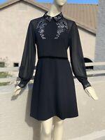 Irregular Ted Baker Embellished Collar Dress Size 4=US12