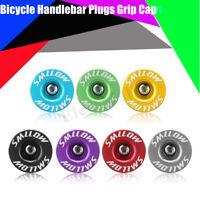 1Pair Aluminum Handlebar Alloy Grips Bar End Plugs Cap For MTB Road Cycling Bike