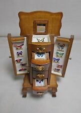 Dollhouse Miniature Butterfly Filled Display cabinet / case / unit