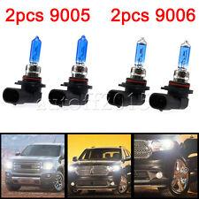 9005 & 9006 Xenon HID Headlight Hi/Lo Beam Halogen Bulbs Combo 6000K 100W White