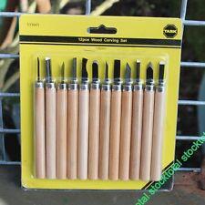 Juego de 12 gubias 12 gubias con mangos de madera pequeños 535601