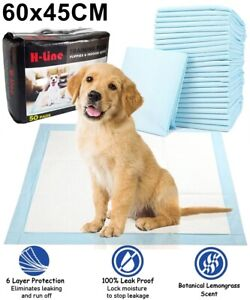 HEAVY DUTY DOG PUPPY LARGE ABSORBENT TRAINING PADS FLOOR TOILET WEE MATS 60x45CM