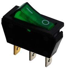 Interrupteur commutateur contacteur bouton à bascule vert SPST ON-OFF 15A/250V