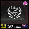 Baby On Board Waterproof Decal Vinyl Sticker 128x114mm Funny Boy Girl Mumlife
