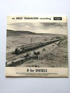 ARGO TRANSACORD RECORDING - D for DIESELS - SOUND RECORDING