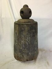 Antique Folk Art Horse Weight Wood Iron
