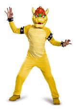 Licenced Deluxe Kids Nintendo Super Mario Bros Bowser Fancy Dress Costume