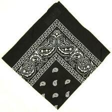 PAISLEY BANDANA RED ,BLACK OR WHITE COWBOY NECK SCARF HEAD HAIRBAND WRISTBAND