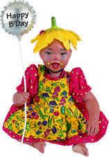 Clown Ladybug New Porcelain Afro African American Black Dark Baby Girl Doll