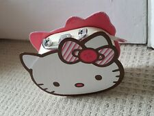 Hello Kitty Vanity Case/Bag with Mirror kids make up storage chrome handle clasp