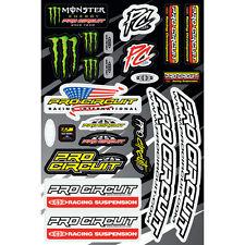 Monster Energy pro Circuit pegatinas kawasaki set kit sticker suspensión Dekor