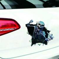 Skull Decal Car Truck Vinyl Sticker Zombie Death Twisted Crazy Scary Cool Decal