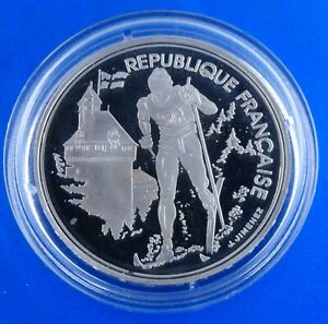 OLYMPIC GAMES France 100 fr 1991 PROOF 1992 Olympics Albertville -Cross country