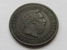More details for spain carlos vii (pretender) 5 centimos coin dated 1875 - good collectable coin