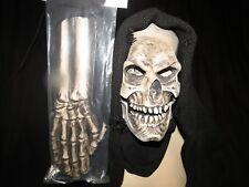 Grim Reaper Mask With Hood & Gloves  Zagone Studios.UK Stock,Video Clip.DEAL!!!!
