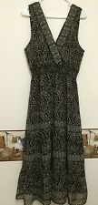 Juniors  Black Brown White Dress by CASSEE'S  Size Large