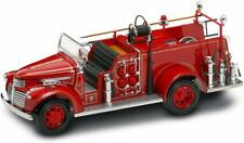 """1941 GMC RED Fire Truck coin bank by Yat Ming  - Scale 1:24 - 24 GOLD PLATED 9"""""""
