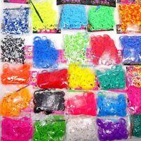 10 x 200 Loom Bands Megaset 2000 Gummibänder verschiedene Farben Bandz Gummis