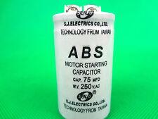 ABS Series 250VAC 75 MFD Motor Start Run Capacitor 2 Terminals (G127A) Brand New