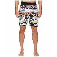 Billabong Lineup Neon Mens Boardshorts Black Size 38 Swimwear Summer