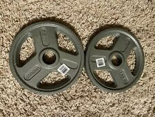 "NEW 25 Lb Weider Olympic Weight Plates Set of Two 2"" Hole FREE SHIPPING"