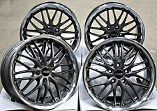 "18"" ALLOY WHEELS 18 INCH CRUIZE 190 GM 8.5X18 5X120 GUNMETAL POLISHED DEEP DISH"