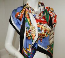 Hermes Giant Triangle Silk Scarf Limited Ed Handrolled Shawl NEW