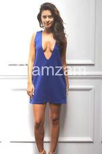 Vestiti da donna casual blu con scollo a v