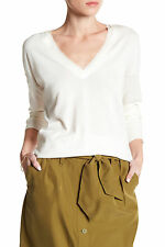 Tommy Bahama Pickford Frayed Silk Trim Pullover Sweater color Lace Size M NEW